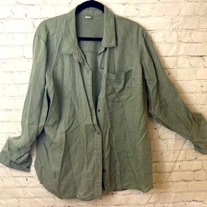 Old navy olive button down blouse